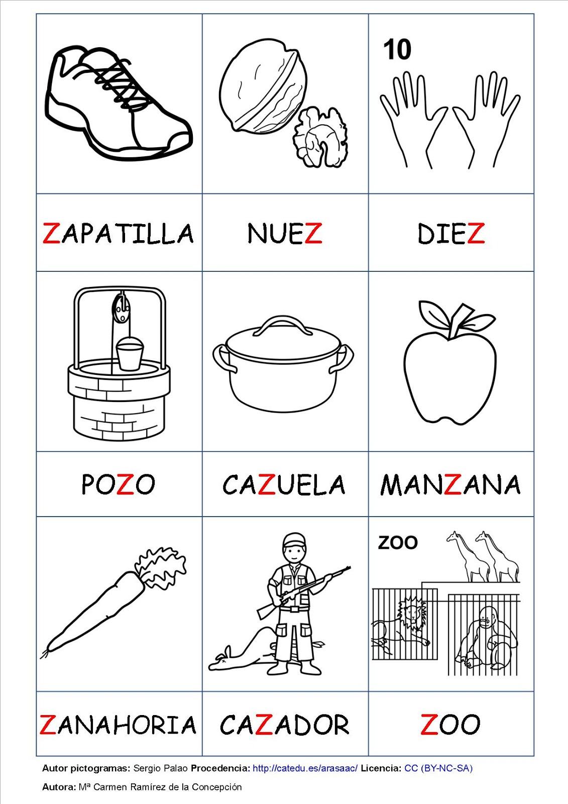 Aula De Infantil 1º Y 2º De Primaria De Viguera La Letra Z