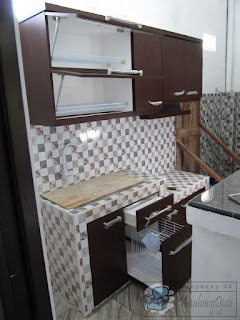 Kitchen Set Bawah Cor Keramik 2 Meter + Furniture Semarang