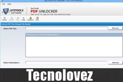 Portable PDF Unlocker - Programma per rimuovere le protezioni e restrizioni su un file PDF