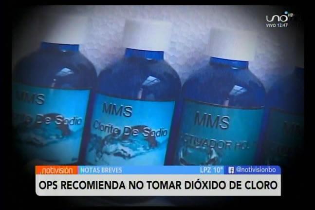 La OPS recomienda no tomar dióxido de cloro