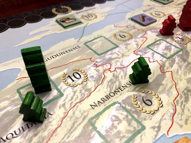 Trajan military action, board game review Trajan, Photo by Benjamin Kocher