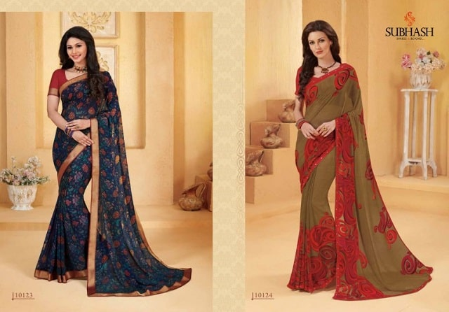 georgette saree with georgette blouse material