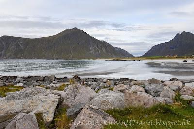 挪威,  羅浮敦群島, lofoten island, norway, Skagsanden Beach