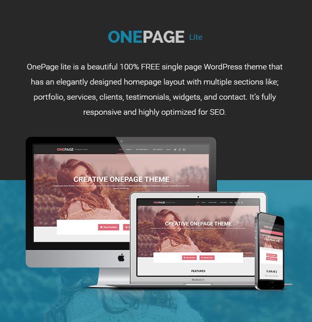 OnePage Lite – Download Free WordPress Theme From MyThemeShop