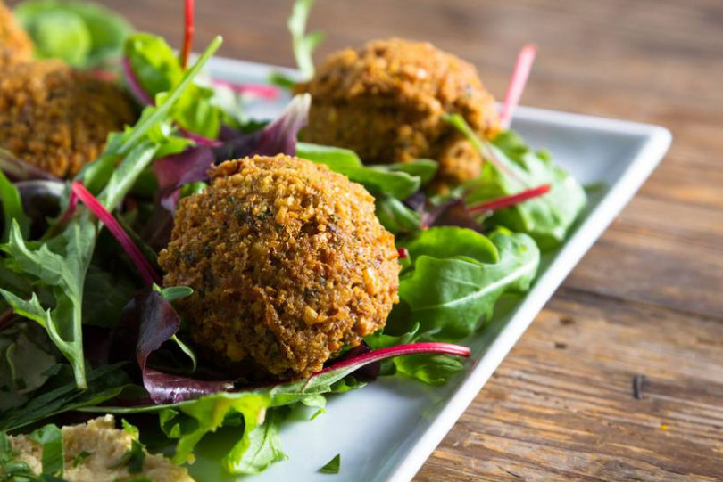 What is falafel made of