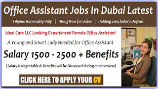 Office Assistant Cum Receptionist Jobs Vacancy in Dubai