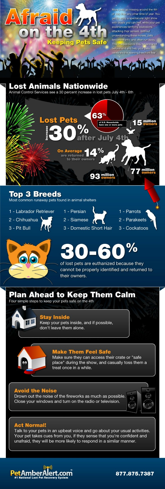Keeping pets safe on 4th graphic