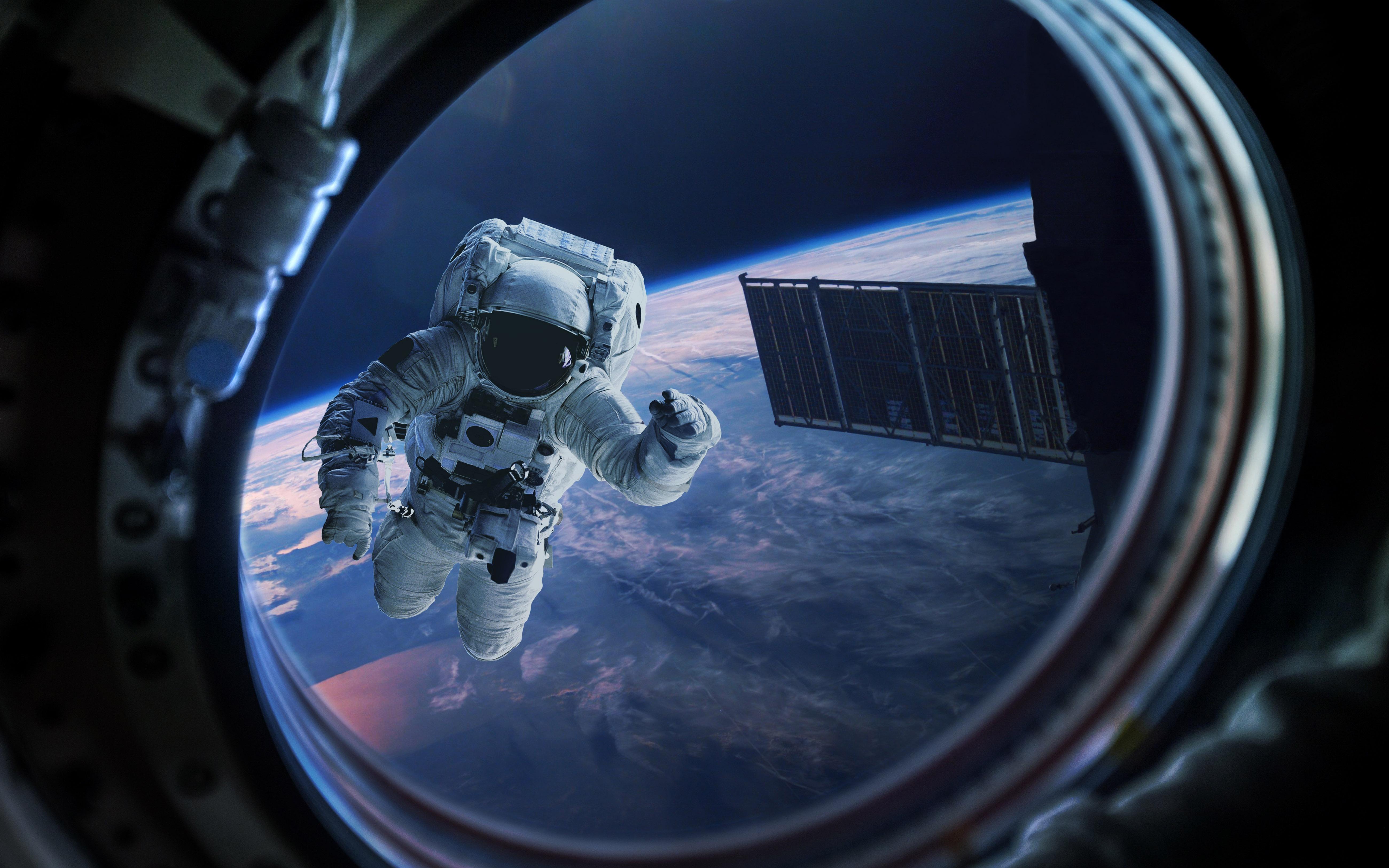 Astronaut, Mirror HD, 5K, Space