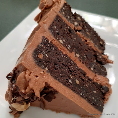 La Patisserie chocolate hazelnut cake