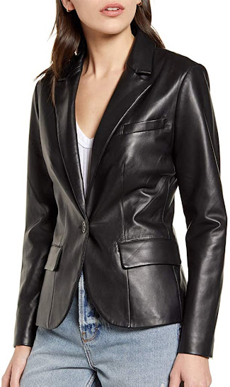 Quality Leather Blazers Jackets For Women