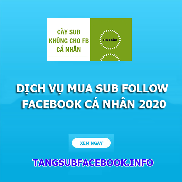 mua sub follow facebook