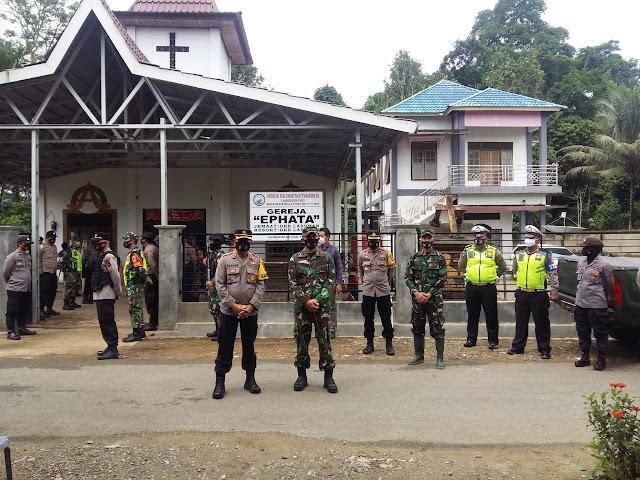 Dua Petinggi TNI - Polri HST Tinjau Langsung Pengamanan Perayaan Jum'at Agung Umat Nasrani