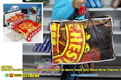 Selimut Rossinni Manchester United 150×200 Cm Sporet Sepak Bola Merah Marun Polyester Blanket