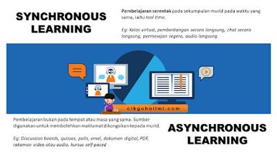 Pembelajaran Synchronous dan juga Asynchronous