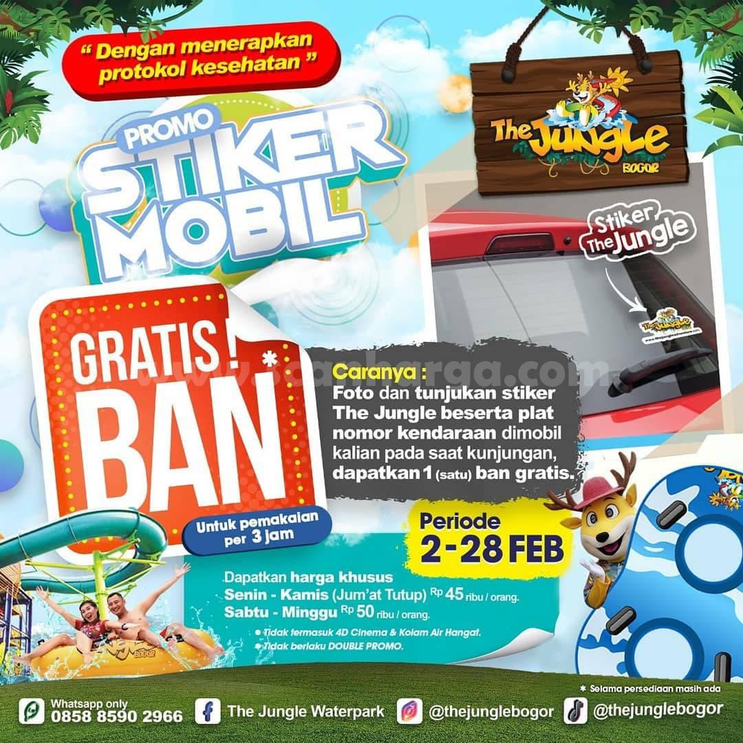 THE JUNGLE Bogor Promo Stiker Mobil! GRATIS Ban atau Pelampung
