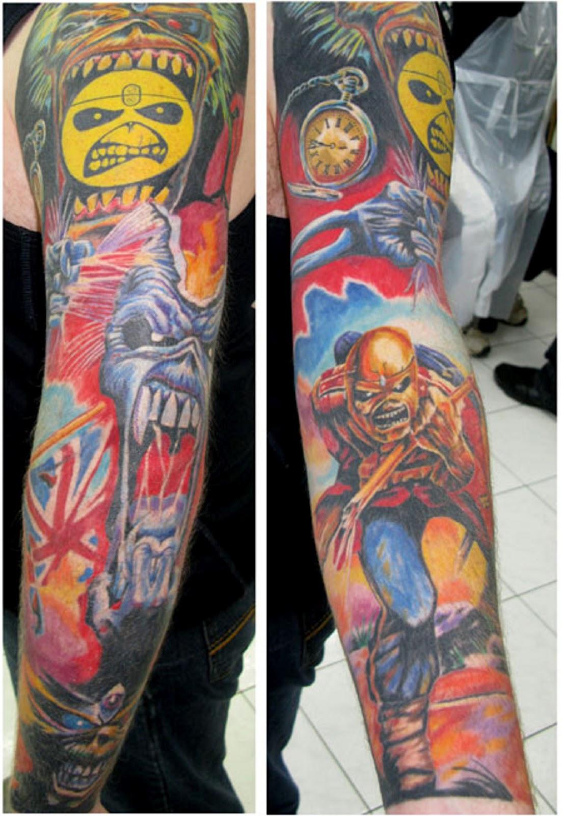 E Tattoo: Tato lengan
