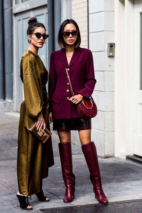 Burgundy Street Style