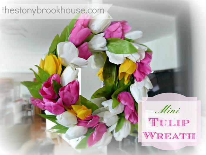 Mini DIY Tulip Wreath