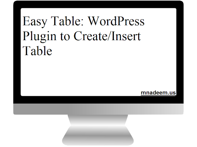 easy table wordpress