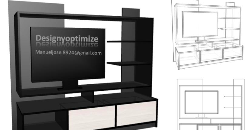 Dise o de muebles madera construir mueble principal para tv led lcd pantalla plana centro - Muebles para televisores pantalla plana ...