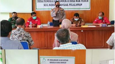 Kapolsek Kerumutan Pimpin Rakor Karhutla di PT MAL