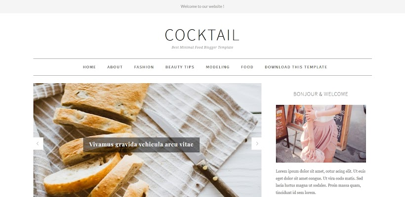 CockTail Free Blogger Template