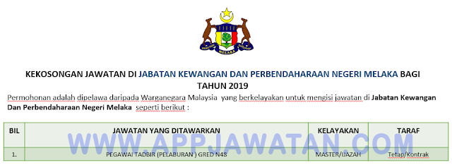 Jabatan Kewangan Dan Perbendaharaan Negeri Melaka