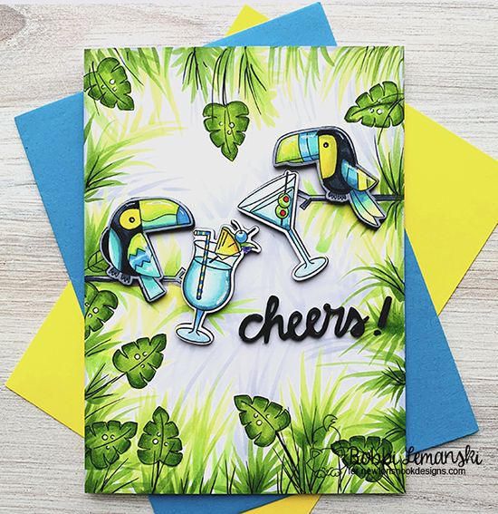 Cheers by Bobbi features Toucan Party and Cocktail Mixer by Newton's Nook Designs; #newtonsnook