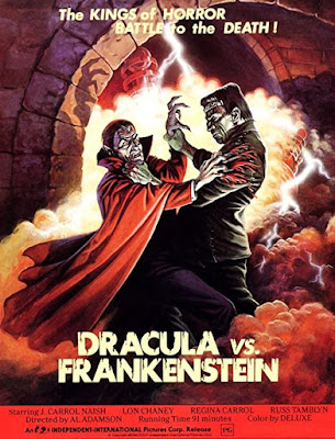 Poster for Al Adamson's DRACULA VS. FRANKENSTEIN!