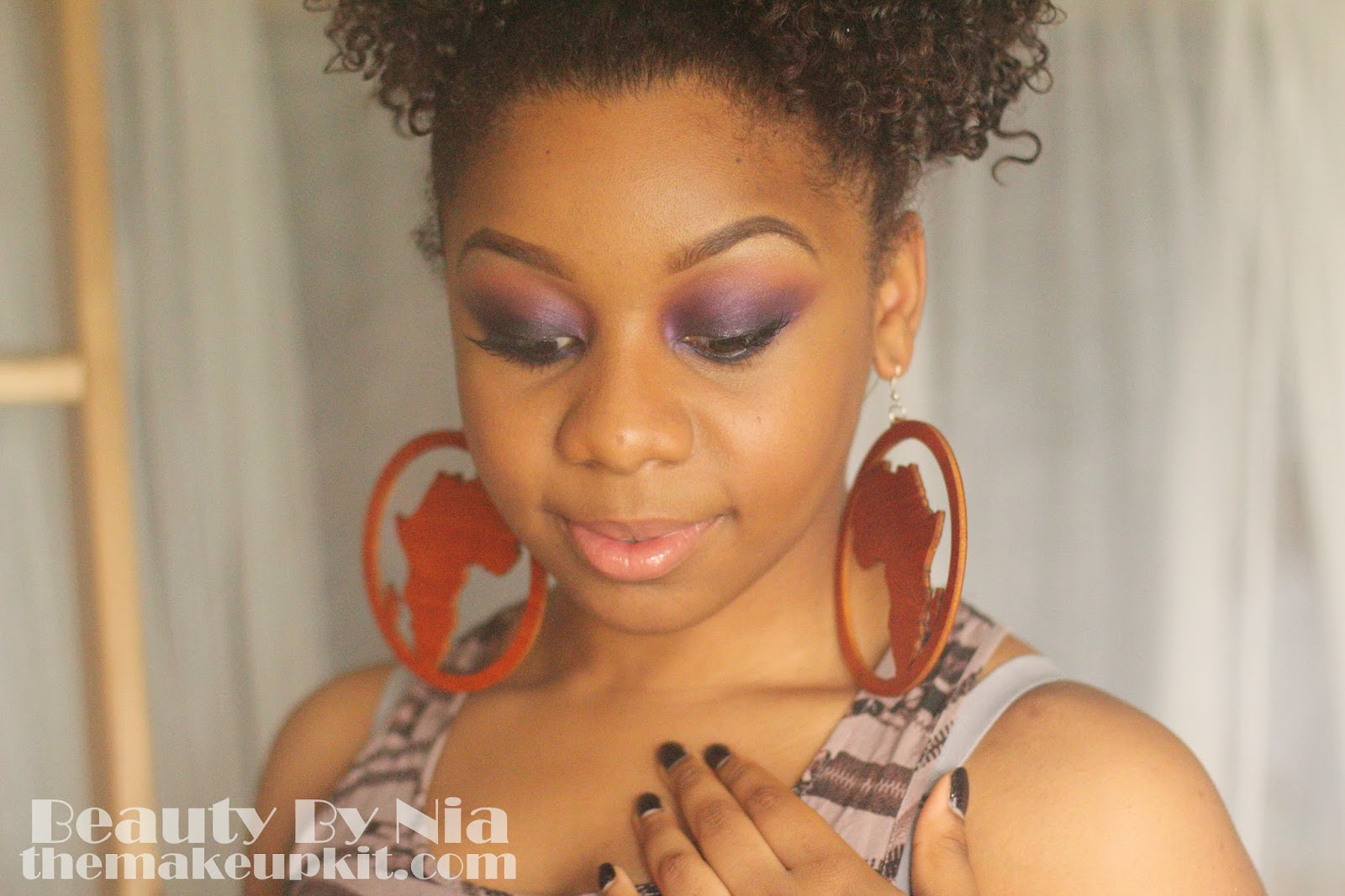 Smoked out purple eye make up look 5