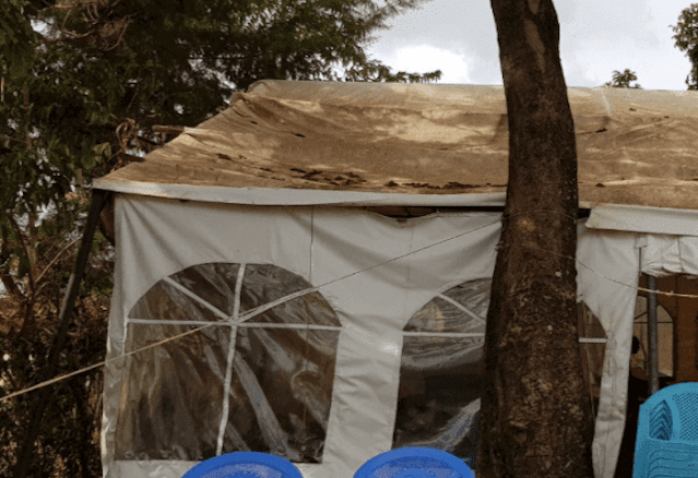 Tent at the burial