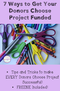 Creating a successful Donors Choose project can be easy...if you know what you are doing! This blog post shares 7 easy to follow tips and tricks in creating your own Donors Choose project. Help your students get all the resources they need to make this school year the most successful one ever! #confessionsofafrazzledteacher #teachers #donorschoose {Kindergarten, First, Second, Third, Fourth, and Fifth Grade Teachers}