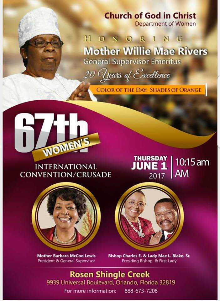 COGIC Will Be Honoring Mother Willie Mae Rivers General ...