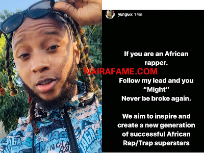 Yung6ix Pictured With The Game, Said All African Rapper Should Follow His Lead