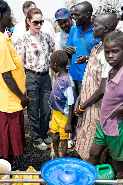 Crown Princess Mary and Mogens Jensen's visit to Ethiopia began with a trip to the refugee camp Tierkidi near South Sudan's)