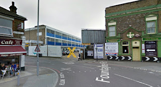 Image of car park in front of the London school of Furniture Making