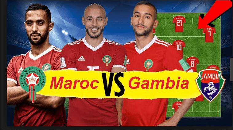 تشكيلة منتخب المغرب نارية المتوقعة غدا أمام غامبيا