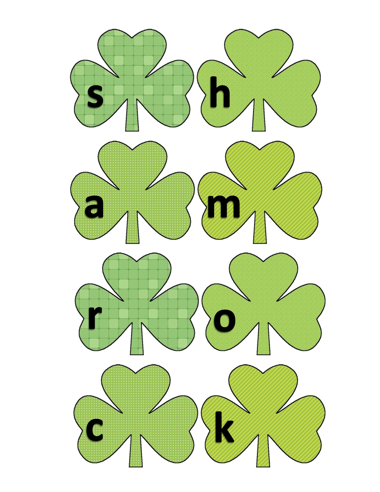 ourhomecreations: St Patrick's Day shamrock pattern