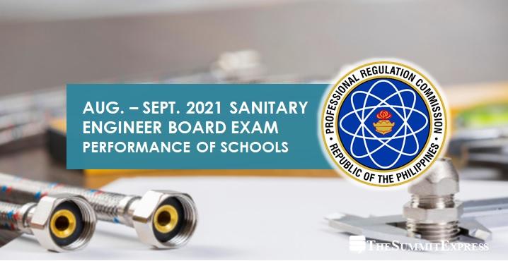 August-September 2021 Sanitary Engineer board exam results