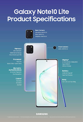 Galaxy Note10 Lite Specifications