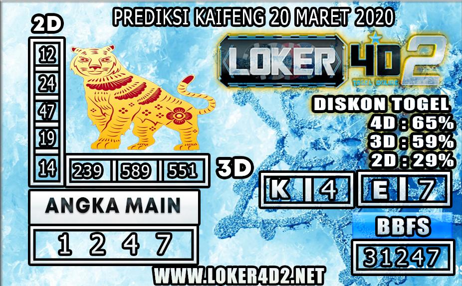 PREDIKSI TOGEL KAIFENG LOKER 4D2 20 MARET 2020