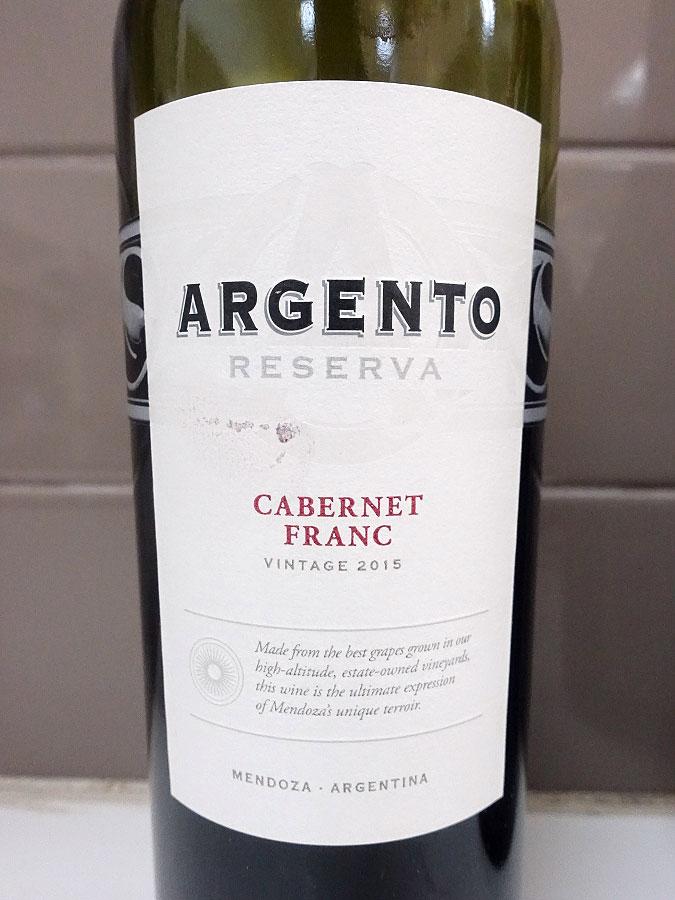 Argento Reserva Cabernet Franc 2015 (88 pts)