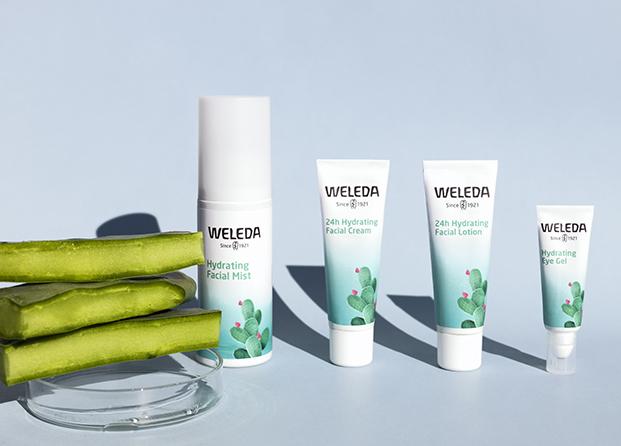 Weleda lanza una nueva línea facial hidratante con extracto de cactus
