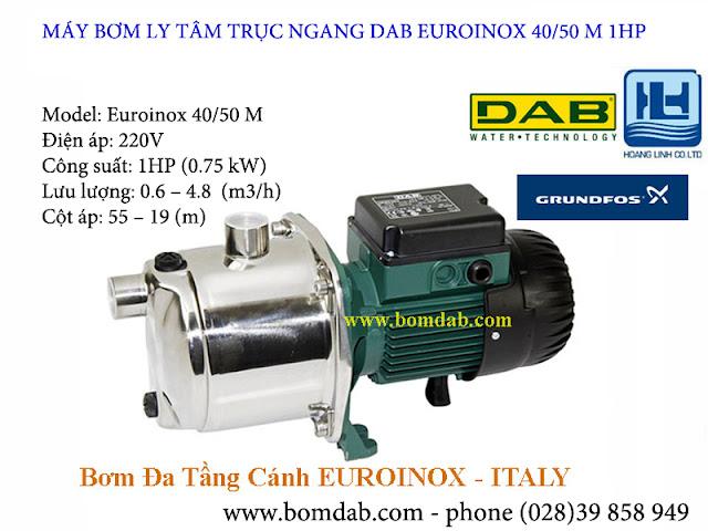 Máy bơm ly tâm đa tầng cánh - tự mồi Euroinox 40/50M