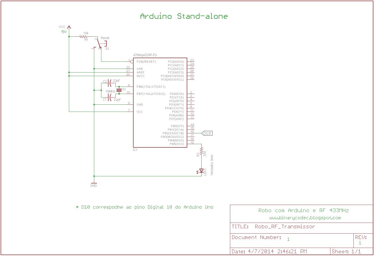 Binary Codec Controlando Robo Pelo Teclado Com Arduino E