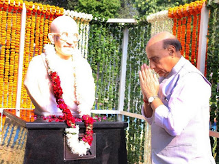 rajnath-ianugrate-gandhi-statue