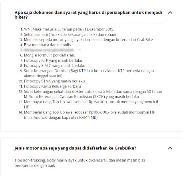 Cara daftar Grabbike Bali Secara online