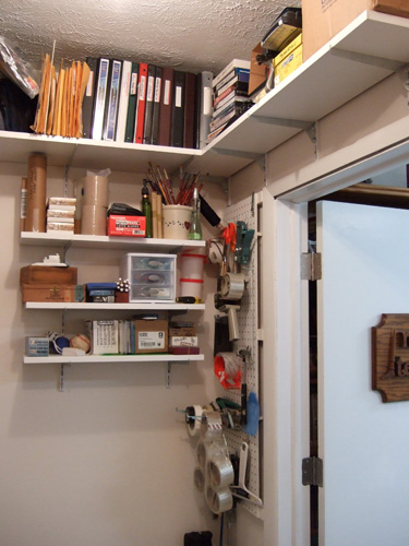 Nancy Teague Art Blog Art Studio Storage Closet