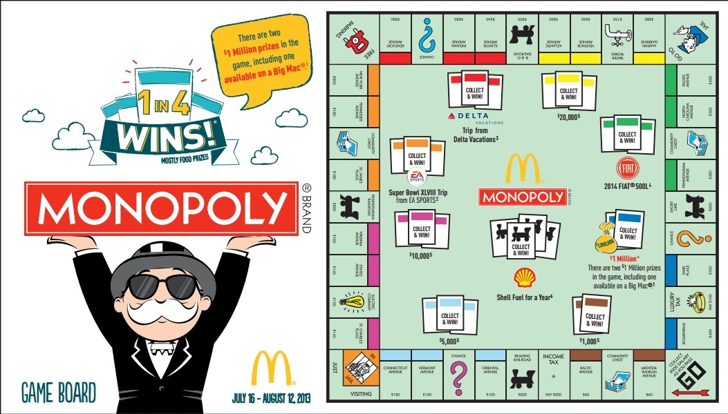 monopoly mcdonalds