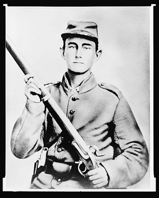 photograph of Confederate soldier from wpclipart.com